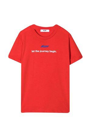 MSGM kids red teen t-shirt  MSGM KIDS | 8 | MS027659040T