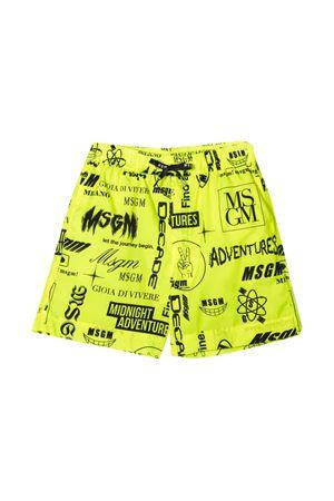 Msgm Kids yellow teen swimsuit  MSGM KIDS | 85 | MS027661023T