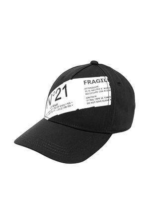 Cappello nero N° 21 Kids N°21 KIDS | 75988881 | N21112N00410N900