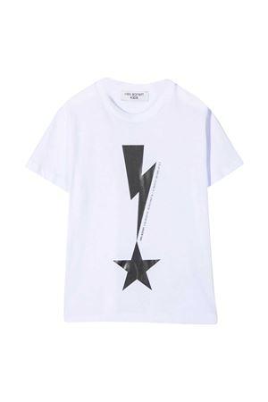 Neil Barrett kids white t-shirt  NEIL BARRETT KIDS | 8 | 027867001