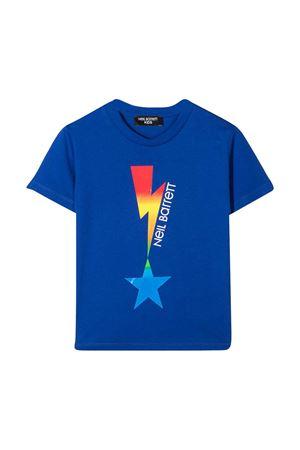 Neil Barrett kids blue t-shirt  NEIL BARRETT KIDS | 8 | 027880130