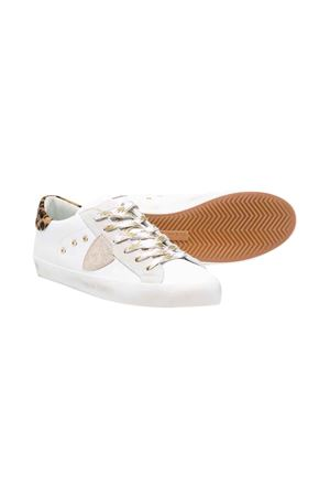Philippe Model Kids white teen sneakers  PHILIPPE MODEL KIDS | 90000020 | CLL0XL1CT