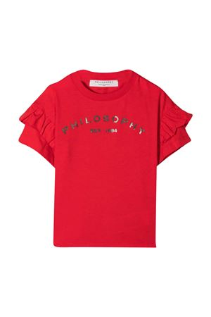 T-shirt rossa con stampa Philosophy Kids PHILOSOPHY KIDS | 8 | PJTS54JE138WH1003051
