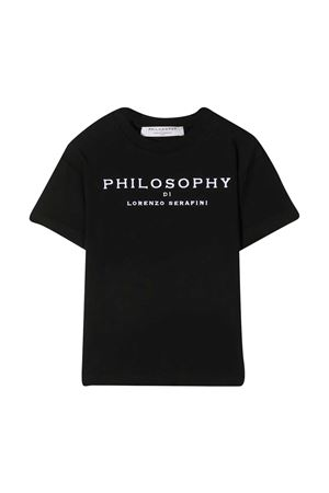 T-shirt with Philosophy kids embroidery PHILOSOPHY KIDS | 8 | PJTS55JE138WH001N000