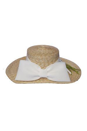 Cappello di paglia modello Botticelli con applicazioni e fiocco Raffaella RAFFAELLA | 75988881 | CAPPAGLIABOTTICELLI01