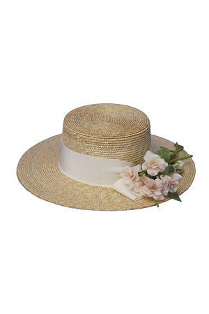 Cappello di paglia modello Frida con applicazioni Raffaella RAFFAELLA | 75988881 | CAPPAGLIAFRIDA01