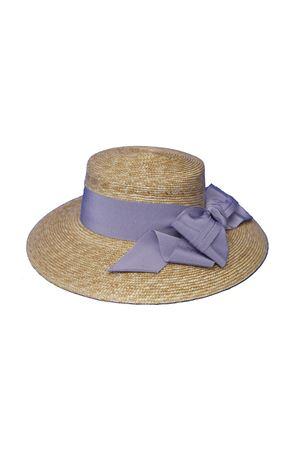 Cappello di paglia modello Monet con fiocco glicine Raffaella RAFFAELLA | 75988881 | CAPPAGLIAMONET01