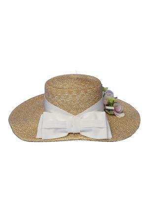 Cappello di paglia modello Farfalla con applicazioni e fiocco Raffaella RAFFAELLA | 75988881 | CAPPAGLIARAFFAELLO01
