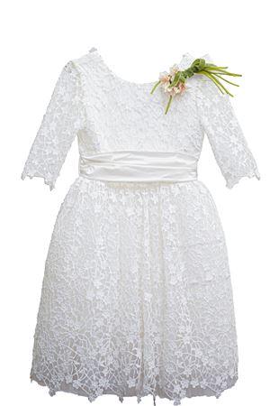 Abito bianco modello Frida con applicazioni Raffaella RAFFAELLA | 11 | FRIDA1401