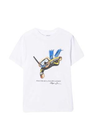 T-shirt bianca Ralph Lauren Kids RALPH LAUREN KIDS   8   322838249001