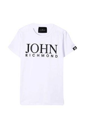 T-shirt bianca con stampa Richmond RICHMOND | 8 | RBP21020TSG9WHITE/BLK