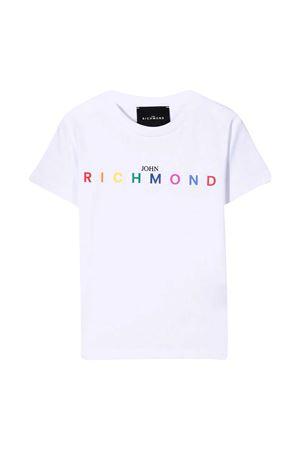 T-shirt teen bianca con logo Richmond RICHMOND | 8 | RBP21021TSG9WHITET