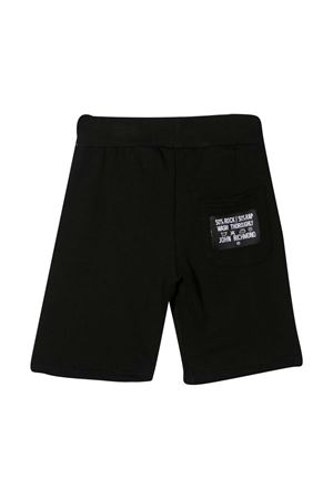 Shorts teen sportivi con stampa Richmond RICHMOND | 5 | RBP21117BEG9BLACK/WHTT