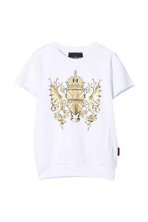 T-shirt con logo Richmond RICHMOND | -108764232 | RBP21134FET6WHITE