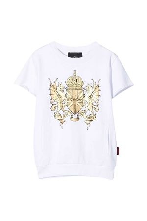 Teen T-shirt with Richmond logo RICHMOND | -108764232 | RBP21134FET6WHITET