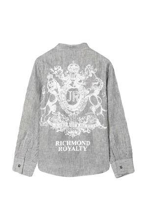 Camicia con stampa Richmond RICHMOND | 5032334 | RBP21185CAHBICE/WHITE
