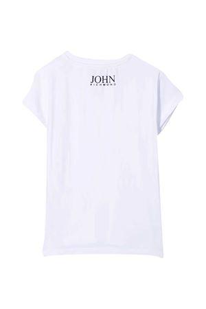 T-shirt bianca con paillettes Richmond RICHMOND | 8 | RGP21123TS9FWHITE