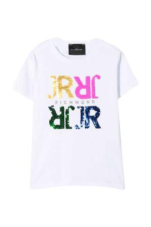 T-shirt con paillettes Richmond RICHMOND | 8 | RGP21137TSLSWHITE