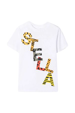 T-shirt teen bianca con stampa multicolor Stella McCartney kids STELLA MCCARTNEY KIDS | 8 | 602241SQJ149000T