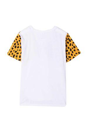 White teen t-shirt with animalier print Stella McCarteny kids STELLA MCCARTNEY KIDS | 8 | 602241SQJ229000T