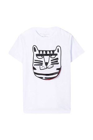 White t-shirt with black press Stella McCartney kids STELLA MCCARTNEY KIDS | 8 | 602241SQJ239000