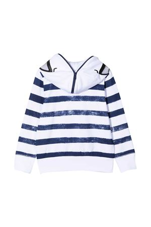 Felpa bianca con righe blu e cappuccio Stella McCartney kids STELLA MCCARTNEY KIDS | -108764232 | 602250SQJ84H402