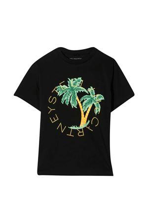 T-shirt nera con stampa multicolor Stella McCartney kids STELLA MCCARTNEY KIDS | 8 | 602253SQJ521000