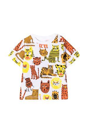 White t-shirt with multicolor print Stella McCarteny kids STELLA MCCARTNEY KIDS | 8 | 602270SQJ16H919