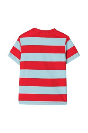 Red stripes t-shirt with multicolor print Stella McCartney kids STELLA MCCARTNEY KIDS | 8 | 602270SQJ68H602