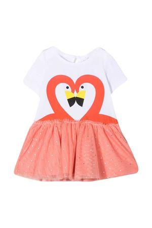White dress with pink print Stella McCartney kids STELLA MCCARTNEY KIDS | 11 | 602592SQJB19000