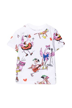 White t-shirt with multicolor print Stella McCartney kids STELLA MCCARTNEY KIDS | 8 | 602597SQJC9H902