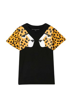 Black teen t-shirt with animalier print Stella McCartney kids STELLA MCCARTNEY KIDS | 8 | 602648SQJ221000T