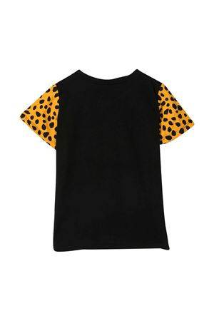 Black t-shirt with animalier print Stella McCarteny kids STELLA MCCARTNEY KIDS | 8 | 602648SQJ221000