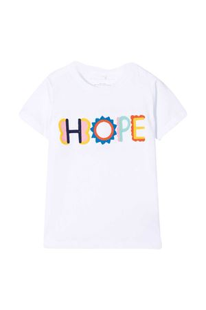 White t-shirt with multicolor print Stella McCartney kids STELLA MCCARTNEY KIDS | 8 | 602648SQJD99000