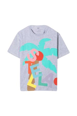 Grey t-shirt with multicolor print Stella McCartney kids STELLA MCCARTNEY KIDS | 8 | 602650SQJA11461