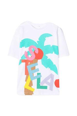 T-shirt bianca con stampa multicolr Stella McCartney kids STELLA MCCARTNEY KIDS | 8 | 602650SQJA19000