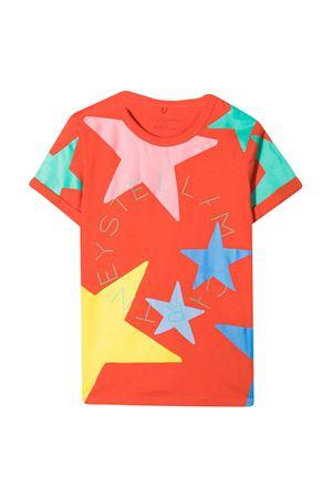 Orange t-shirt with multicolor print Stella McCartney kids STELLA MCCARTNEY KIDS | 8 | 602652SQJC36561
