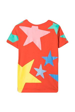 Orange teen  t-shirt with multicolor print Stella McCartney kids STELLA MCCARTNEY KIDS | 8 | 602652SQJC36561T