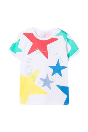 White t-shirt with multicolor print Stella McCartney kids STELLA MCCARTNEY KIDS | 8 | 602652SQJC39000