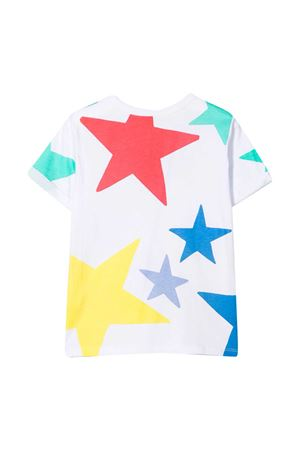 T-shirt bianca teen con stampa multicolor Stella McCartney kids STELLA MCCARTNEY KIDS | 8 | 602652SQJC39000T