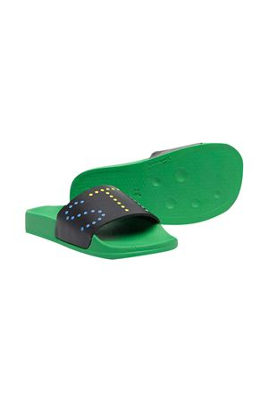 Stella McCartney kids green teen slippers  STELLA MCCARTNEY KIDS | 12 | 602701SQD111000T