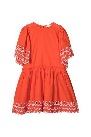 Abito arancione con dettagli ricamati Stella McCartney kids STELLA MCCARTNEY KIDS | 11 | 602783SQK796561