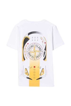White Stone Island Junior t-shirt  STONE ISLAND JUNIOR | 8 | 741621058V0001