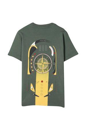 Stone Island Junior military green t-shirt STONE ISLAND JUNIOR | 8 | 741621058V0059