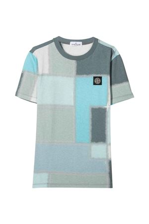 T-shirt azzurra Stone Island Junior STONE ISLAND JUNIOR | 8 | 741621446V0064