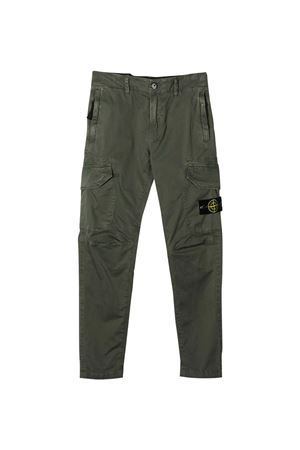 Stone Island Junior green cargo trousers  STONE ISLAND JUNIOR | 9 | 741630810V0159