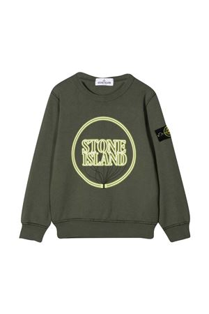 Stone Island Junior green sweatshirt  STONE ISLAND JUNIOR | -108764232 | 741662340V0059