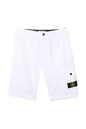 White Stone Island Junior Bermuda shorts  STONE ISLAND JUNIOR | 5 | 7416L0412V0001
