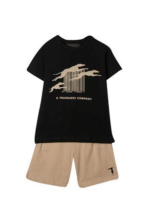 Set T-shirt e shorts con stampa Trussardi kids TRUSSARDI KIDS | 42 | TBP21059CJTKBLACK/KAKI