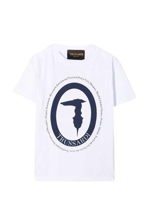 T-shirt teen con stampa Trussardi kids TRUSSARDI KIDS   8   TBP21088TSLSWHITE/BLUET